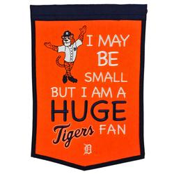 """""""Detroit Tigers 12"""""""" x 18"""""""" Lil Fan Traditions Banner"""""""