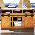 "Homacer Horseshoe Standard Double Barn Door Hardware Kit Track Length: in Black, Size 72""   Wayfair SM2TGH072M"