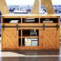 Homacer Mini Straight Standard Double Barn Door Hardware Kit Track Length: | Wayfair ZT2TGH060M