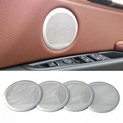 4pcs Speaker Cover Trim Kit For BMW X5 F15 2014-2018 X6 F16 2015-2018 Car Audio Speaker Door Loudspeaker Trim Sticker Cover