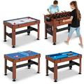 "MD Sports New Multi-Game Play Foosball, Slide Hockey, Table Tennis or Billiards Combo Table (54"", 4 in 1)"