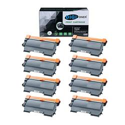 TonerPlusUSA Compatible TN450 Toner Cartridge Replacement for Brother TN450 TN-450 Black, High Yield [8 Pack]