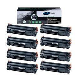 TonerPlusUSA Compatible CE278A CRG128 CRG126 Toner Cartridge – CE278A CRG128 CRG126 High Yield Toner Cartridge Replacement for HP Laser Printer – Black [8 Pack]