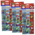 """Super Mario Brothers Birthday Party Assorted Pencils Favours, Wood, 7"""", Pack of 36"""