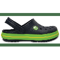 Crocs Navy / Volt Green Kids' Crocband™ Clog Shoes