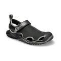Crocs Black Men'S Swiftwater™ Mesh Deck Sandal Shoes