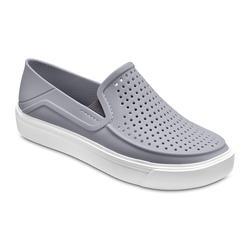 Crocs Light Grey / White Kids' Citilane Roka Slip-On Shoes