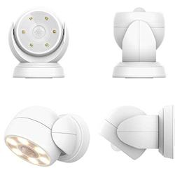 HONWELL Motion Sensor Light Outdoor Battery Operated Wireless Waterproof Spotlight Motion Detector Security Light, Light Sensor Auto On Off for Porch Stair Hallway Garage Wall Shed House Door (1Piece)