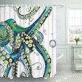 Bathroom Shower Curtain Colorful Fashion Octopus Shower Curtains Durable Fabric Bath Curtain Waterproof Bathroom Curtain with 12 Hooks, Colorful Fashion Octopus Shower Curtain