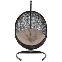 Encase Swing Outdoor Patio Lounge Chair EEI-739-BEI-SET