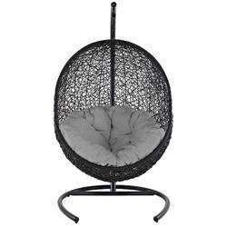 Encase Swing Outdoor Patio Lounge Chair EEI-739-GRY-SET