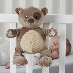 L.A. Baby Plush Sleep Aid Womb Sound Soother Teddy Bear MobileFabric in Brown, Size 10.5 H x 8.5 W x 7.3 D in | Wayfair CSS-BR