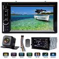 """In-Dash 2 DIN Car Radio with Rear View Parking Cam Double Din Stereo Multimedia Player with Bluetooth Mirror Link Steering Wheel Control 6.2"""" Touchscreen AM FM MP3 CD DVD for Ford F150 2004-2016"""