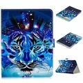 """UGOcase Universal Case for 9.5""""-10.5"""" Tablet, PU Leather Slim Magnetic Kickstand Cards Holder Wallet Case Cover for Kindle HD 10, iPad, Galaxy Tab T560NU, Nexus, RCA, LG, ASUS & More, Blue Tiger"""