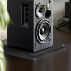 Pyle Sound Dampening Universal Speaker Riser in Black, Size 1.8 H x 22.5 W x 17.8 D in | Wayfair PSI12