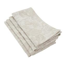 Charlton Home® Mcspadden Jacquard Cloth Table Linen NapkinLinen/Cotton in Gray/White, Size 24.0 W x 24.0 D in | Wayfair