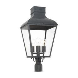 Crystorama Dumont 25 Inch Tall 3 Light Outdoor Post Lamp - DUM-9808-GE