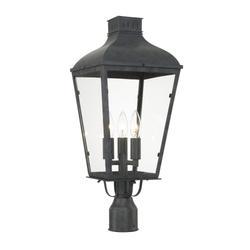 Crystorama Dumont 23 Inch Tall 3 Light Outdoor Post Lamp - DUM-9807-GE