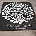 Littledollz Wedding Tree Guest Book Alternative Wood Guestbook 3D Guest Book Sign 3D Wedding Tree Guest Book Globe Wooden Guest Book Hearts Black White