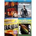 Packed with Action Fast Furious Steelbook 6 + Original Blu Ray & RED + Mad Max The Road Warrior 4 Movie Bundle
