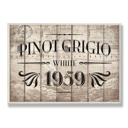 Winston Porter 'Vintage Pinot Grigio Barrel Label' Textual Art Wall Plaque Format: Plaque, Canvas & Fabric/Wood/Paper in Brown/Black | Wayfair