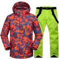Z&X Ski Jacket - Waterproof Ski Suit Snow Suit Winter Skiing Keep Warm Men's Ski Jacket and Pants Set-Suitable for Snowboarding, Mountaineering - Multicolor,L