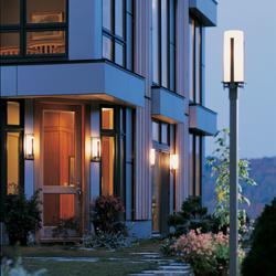 "Hubbardton Forge 347288-LED Vertical Bars Single Light 22"" Tall LED Outdoor Single Head Post Light"