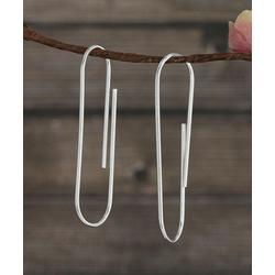 Kanishka Women's Earrings Silver - Sterling Silver Clip-Shape Threader Earrings