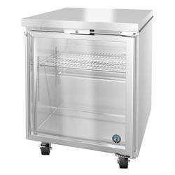 "Hoshizaki UR27A-GLP01 SteelHeart 27"" W Undercounter Refrigerator w/ (1) Section & (1) Door, 115v"