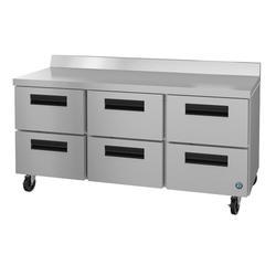 "Hoshizaki WR72A-D6 SteelHeart 72"" Worktop Refrigerator w/ (3) Section, 115v"