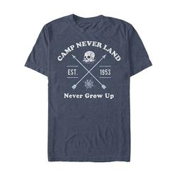 Fifth Sun Men's Tee Shirts NAVY - Disney Navy Heather 'Camp Never Land' Skull Rock Tee - Men