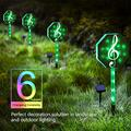 Fanshunlite Solar Lights Pathway Outdoor,LED Color Changing Solar Stake Lights Outdoor,Solar Light LED Garden Music Notes Decor,Patio Lights LED Outdoor Multicolor Changing LED Lights,Pink