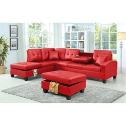 """Ebern Designs Moison 110"""" Wide Faux Leather Left Hand Facing Corner Sectional Faux Leather/Leather, Size 38.0 H x 110.0 W x 81.0 D in 
