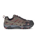 Merrell Men's Moab Vertex Vent Comp Toe Work Shoe, Size: 7, Pewter