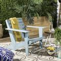 Lanty Adirondack Chair in Oriental Blue - Safavieh PAT6746C