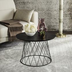 Roper Retro Mid Century Wood End Table in Black - Safavieh FOX4245B