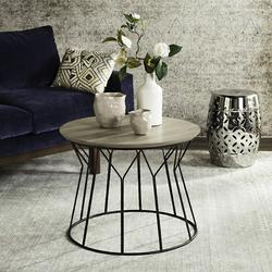 Alcott Retro Mid Century Wood End Table in Light Oak/Black - Safavieh FOX4258A