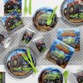 Creative Converting Monster Truck Birthday Party Party Supplies Kit GuestsPaper/Plastic in Black/Gray   Wayfair DTC4567E2A