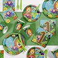 "Creative Converting Jungle Safari Party Supplies Kit Guests, Paper/Plastic in Green, Size 16""H X 8""W X 7""D 