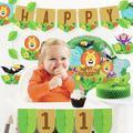 "Creative Converting 8 Piece Jungle Safari Decorations Kit, Paper/Plastic in Green, Size 13""H X 11""W X 9""D | Wayfair DTC4560E1B"