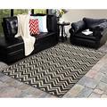 World Menagerie Jurgensen Gray/Beige Indoor/Outdoor Area Rug Polypropylene in Brown, Size 84.0 H x 53.0 W x 0.32 D in   Wayfair