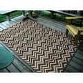 World Menagerie Jurgensen Gray/Beige/Black Indoor/Outdoor Area RugPolypropylene in Black/Gray/White, Size 84.0 H x 53.0 W x 0.32 D in | Wayfair