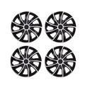 Vosarea 4pcs 13 Inch Wheel Covers car Wheel caps case hubcap for car hub Cap auto refit Accessories (Silver Black)