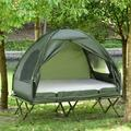 Outsunny Compact Pop Up Portable Folding Outdoor Cot in Green, Size 53.5 H x 53.5 W x 76.0 D in | Wayfair A20-087