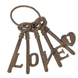 Ophelia & Co. 5 Piece Cast Iron Love Keys Wall Decor SetMetal in Brown, Size 8.5 H x 3.5 W in   Wayfair 4914E876D9AA42AF9FC5297F35A075DA