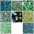 TILA 80 Grams Teal and Turquoise Tila Bead Mix, 8 Colors, 10 Grams Each. Aqua, Teal, Green, Turquoise, Blue. Genuine Miyuki Japanese Glass Beads
