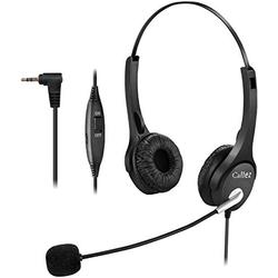 Callez 2.5mm Cordless Phone Headset Dual, Telephone Headsets with Noise Canceling Mic for DECT Phones Panasonic KX-TGE433B KX-TS880 AT&T ML17929 Vtech RCA Cisco Uniden Call Center Home Office(C402D3)