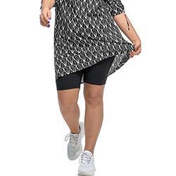 ellos Women's Plus Size Stretch Knit Bike Shorts - 14/16, Black