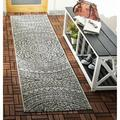 Bungalow Rose Amedee Floral Gray Indoor/Outdoor Area Rug in Brown/Gray, Size 79.0 H x 27.0 W x 0.25 D in | Wayfair 914075E099CB4F54823258D8D1D68871