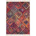 Nomad 5' x 8' Red Tribal Area Rug - Nourison NMD01